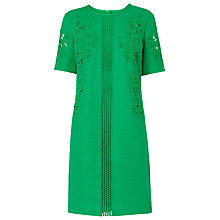 Buy L.K. Bennett Danika Lace Insert Dress, Green Online at johnlewis.com