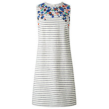 Buy L.K. Bennett Bea Stripe Embroidered Dress, Blue/White Online at johnlewis.com