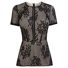 Buy Coast Madley Lace Top, Black Online at johnlewis.com