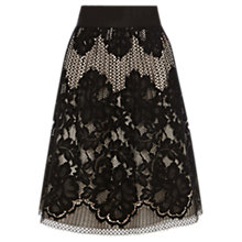 Buy Coast Fantasia Lace Skirt, Black Online at johnlewis.com