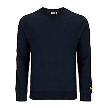 Buy Carhartt Chase Jersey Top, Navy Online at johnlewis.com