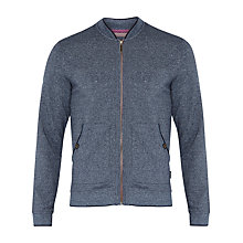 Buy Ted Baker Bobsum Jersey Bomber Jacket, Navy Online at johnlewis.com