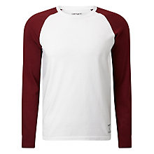 Buy Carhartt Dodgers Cotton T-shirt, White/Chianti Online at johnlewis.com