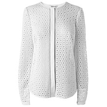 Buy L.K. Bennett Jazz Eyelet Shirt, White Online at johnlewis.com