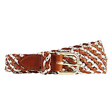 Buy Des Petits Hauts Ninetta Plait Belt, Tan/Silver Online at johnlewis.com