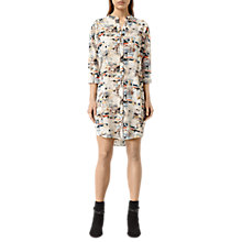 Buy AllSaints Avalon Dash Dress, Chalk White Online at johnlewis.com