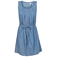 Buy Fat Face Albany Geo Print Dress, Chambray Online at johnlewis.com