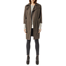 Buy AllSaints Eila Coat, Dark Khaki Green Online at johnlewis.com