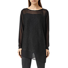 Buy AllSaints Malo Jumper, Black Online at johnlewis.com