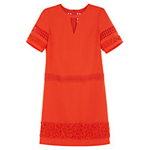 Buy Karen Millen Graphic Panel T-Shirt Dress, Orange Online at johnlewis.com
