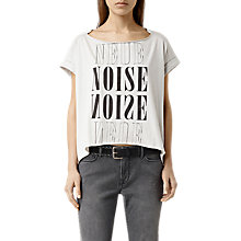 Buy AllSaints Neuenoise Pina T-Shirt, Stone Grey Online at johnlewis.com