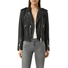 Buy AllSaints Klyn Leather Biker Jacket Online at johnlewis.com