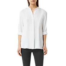 Buy AllSaints Alvey Shirt, Chalk White Online at johnlewis.com