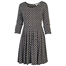 Buy Fat Face Diamond Hatch Dress, Phantom Online at johnlewis.com
