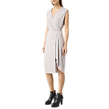 Buy AllSaints Amalia Dress, Storm Grey Online at johnlewis.com