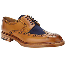 Buy JOHN LEWIS & Co. Made in England Cedric Suede Mixed Brogue, Tan Online at johnlewis.com