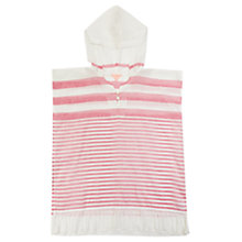 Buy Jigsaw Girls' Silk Hooded Stripe Kaftan, Red/White Online at johnlewis.com