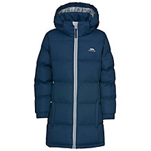 Buy Trespass Children's Long Padded Coat, Navy Online at johnlewis.com