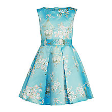 Buy John Lewis Heirloom Collection Bird Cage Print Dress, Turquoise Online at johnlewis.com