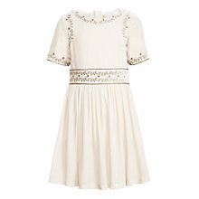 Buy John Lewis Heirloom Collection Girls' Embroidered Dress, Pale Blush Online at johnlewis.com