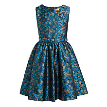 Buy John Lewis Heirloom Collection Girls' Jacquard Dress, Blue Online at johnlewis.com