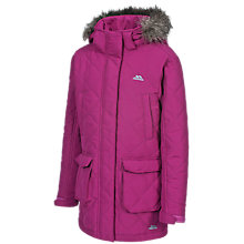 Buy Trespass Girls' Quilted Faux Fur Trim Jacket Online at johnlewis.com
