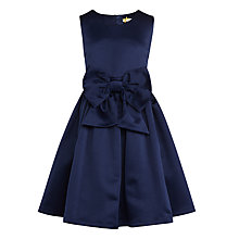 Buy John Lewis Heirloom Collection Girls' Satin Bow Dress, Navy Online at johnlewis.com