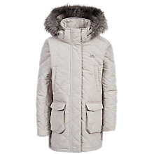 Buy Trespass Children's Quilted Faux Fur Trim Jacket Online at johnlewis.com