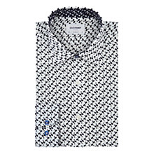 Buy Duchamp Alternating Squares Tailored Shirt, White Online at johnlewis.com