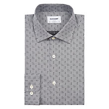 Buy Duchamp Woven Musical Note Tailored Fit Shirt, Grey Online at johnlewis.com
