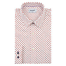 Buy Duchamp Mini Paisley Slim Fit Shirt, White/Red Online at johnlewis.com