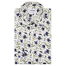 Buy Duchamp Whispy Floral Tailored Fit Shirt, Blue Online at johnlewis.com