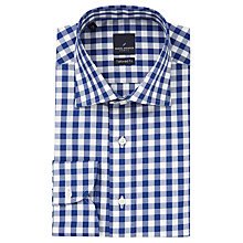 Buy Daniel Hechter Check Tailored Fit Shirt, Blue/White Online at johnlewis.com