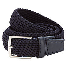 Buy Duchamp Plaited Elastic Belt, Navy Online at johnlewis.com