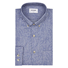 Buy Duchamp Micro Paisley Slim Fit Shirt, Powder Blue Online at johnlewis.com