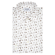 Buy Duchamp Jazz Instrument Print Slim Fit Shirt, White Online at johnlewis.com