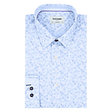 Buy Duchamp Light Flower Stripe Tailored Fit Shirt, Powder Blue Online at johnlewis.com