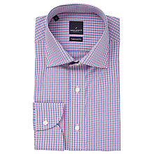 Buy Daniel Hechter Multi Gingham Tailored Fit Shirt, Pink/Blue Online at johnlewis.com
