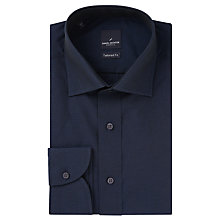 Buy Daniel Hechter Cotton Twill Tailored Fit Shirt, Navy Online at johnlewis.com