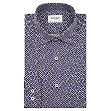 Buy Duchamp Mini Card Print Slim Fit Shirt, Navy Online at johnlewis.com