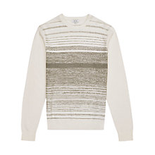 Buy Reiss Ashes Dot Stripe Jumper, White Online at johnlewis.com