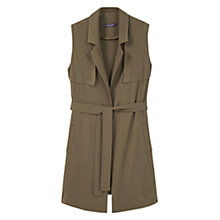 Buy Violeta by Mango Belt Long Gilet, Beige/Khaki Online at johnlewis.com