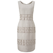 Buy Precis Petite Linen Flower Detail Shift Dress Online at johnlewis.com