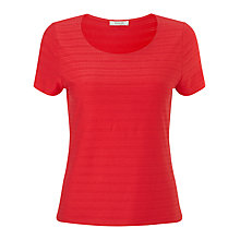 Buy Precis Petite Textured Top, Coral Online at johnlewis.com