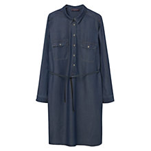 Buy Violeta by Mango Denim Shirt Dress, Medium Blue Online at johnlewis.com