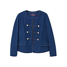 Buy Violeta by Mango Double Breasted Jacket, Medium Blue Online at johnlewis.com