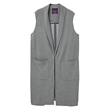 Buy Violeta by Mango Long Gilet, Medium Grey Online at johnlewis.com