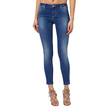 Buy Miss Selfridge Sofia Ultra Soft Jeans, Mid Wash Online at johnlewis.com