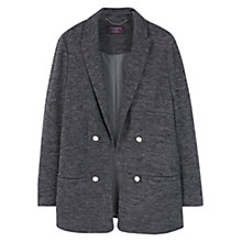 Buy Violeta by Mango Textured Blazer, Black Online at johnlewis.com