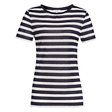 Buy Reiss Molly Striped Top, Off White/Night Navy Online at johnlewis.com